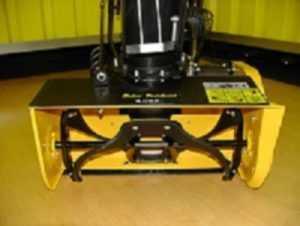 1 Stück Einstufige Schneefräse 4 PS Motor Gelb Handstarter für Haus und Hof