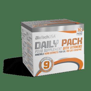 (76,80/kg) BioTechUSA Daily Pack Multivitamine und mehr... Q10 Zink D3 Magnesium