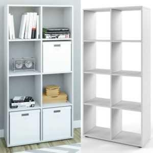 VICCO Raumteiler SCUTUM 8 Fächer Weiß - Bücherregal Wandregal Standregal Regal
