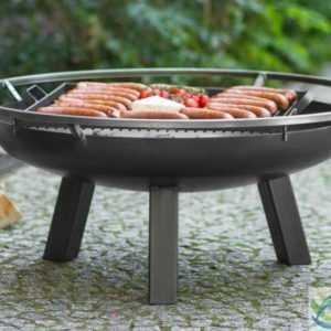 Feuerschale und Grillrost aus Stahl - Feuerkorb Grillfeuer Feuerstelle - Ø 70 cm