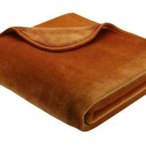 Bocasa Microfaser-Wohndecke Simply Luxury, Dessin Uni,