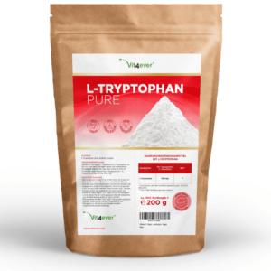 2x L-Tryptophan = 400g Reines Pulver - Vegan ohne Zusätze + Dosierlöffel Schlaf