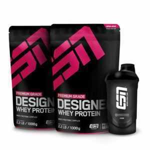 2 x 1000g ESN Designer Whey Protein + Gratis Shaker - Direkt vom Hersteller
