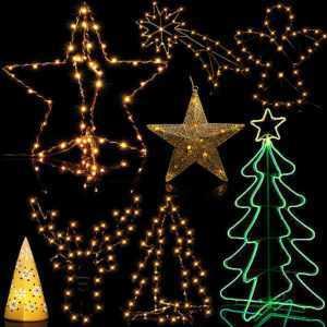 Weihnachtsdeko Figuren LED Lichterkette Beleuchtung Weihnachtsdekoration Fenster