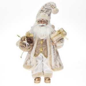 Weihnachtsmann groß 62cm Gold Santa Claus Nikolaus Weihnachts Winter Deko Advent