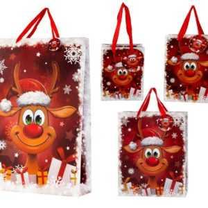 Weihnachtstüten Lustiges Rentier Geschenktüte verschiedene Größen und Mengen