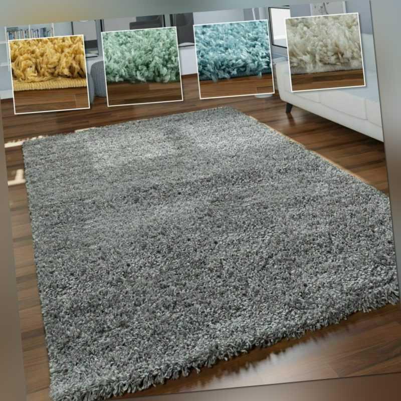 Hochflor-Teppich, Shaggy Für Wohnzimmer, Weich Flauschig Strapazierfähig Robust