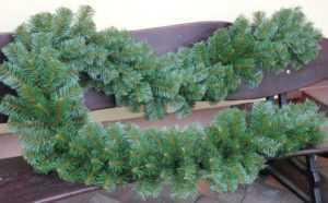 300cm Weihnachtsgirlande dicke Tannengirlande Grün Weihnachtsdeko In-Outdoor