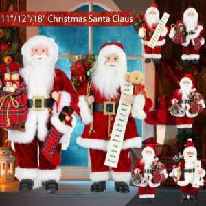 Weihnachtsmann Christmas Figur Nikolaus Rot Santa Laterne Mann Weihnachts Deko