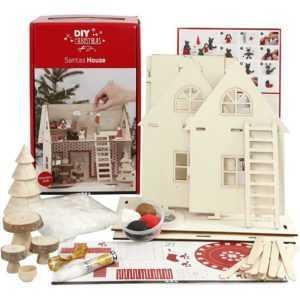 Weihnachtsmann-Haus, 1 Bastelset, Weihnachtsdeko