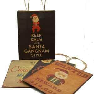 Weihnachtstüten Vintage Geschenktüte Weihnachten Geschenk Verpackung aus Papier