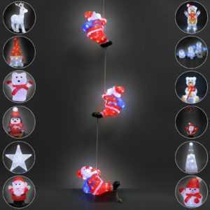 LED Acryl Figur Weihnachtsdekoration Dekofigur Weihnachten Indoor Outdoor