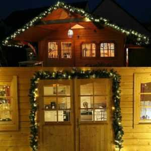 Türgirlande beleuchtet 5 m 80 LED Tannengirlande grün Weihnachten außen Timer