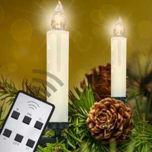 40 Set LED Lichterkette Kerzen Kabellos Weihnachtsbaum Christbaum Beleuchtung; EEK A+