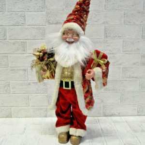 großer roter 50cm Weihnachtsmann Santa Claus Nikolaus Geschenk Winter Deko Figur