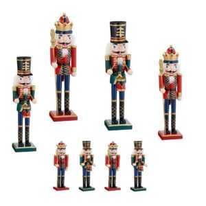 Nussknacker Dekofigur Holz Weihnachten verschiedene Größen Rot Grün