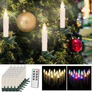 DEUBA® Kabellose LED Weihnachtsbaumkerzen Christbaumkerzen Weihnachtskerzen; EEK A+