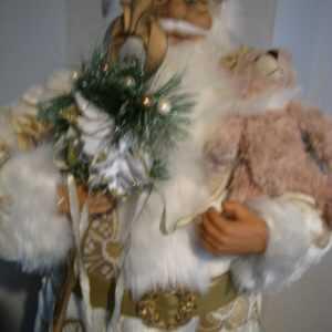 Weihnachtsmann groß DEKO 81 cm stehend Weihnachten Santa Klaus Bärchen Nikolaus