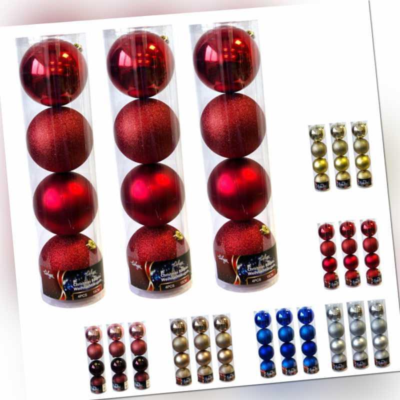 12er XXL Weihnachtskugeln-Set 'Lord' Ø15cm Kunststoff Tannenbaum Christbaumkugel