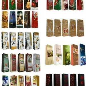 Geschenktüten Weihnachten Flasche Wein Weihnachtstüte Taschen Weihnachtstaschen