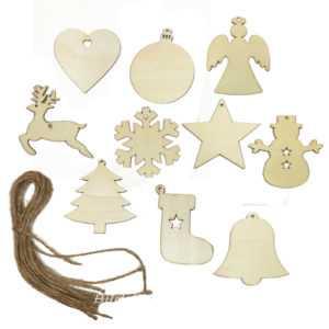 10 -100 Christbaumschmuck Anhänger Holz Weihnachtsbaum Deko Engel Sterne Glocken