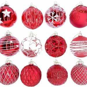 12 Luxus Weihnachtskugeln Christbaumkugeln Weihnachten Glas Weihnachtsdeko M6