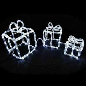 Geschenkboxen 180 LED beleuchtet Figur Garten innen außen Weihnachtsdekoration