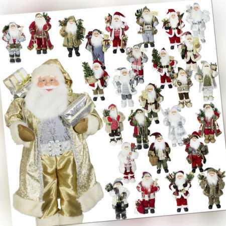 XL Deko Weihnachtsmann Figur 80cm Nikolaus Santa Weihnachtsdeko Weihnachten