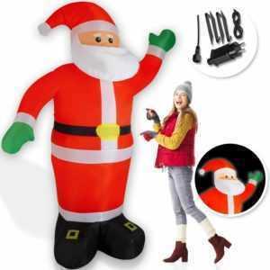KESSER® Weihnachtsmann aufblasbar XXL 250cm Weihnachten Nikolaus LED beleuchtet