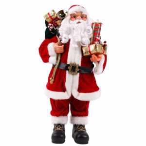Weihnachtsmann Deko Figur Weihnachten und Advent Nikolaus Viggo 60 / 80cm