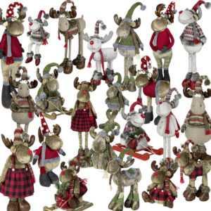 Weihnachtlicher Deko Elch Rentier Weihnachten Dekofigur Weihnactsdeko