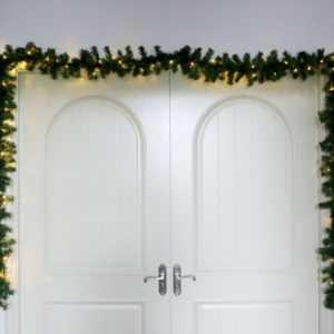 Tannengirlande 500cm künstlich beleuchtet 80 LED Innen Außen Weihnachten Deko