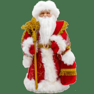 Dekofigur Ded Moroz Weihnachtsmann Santa Väterchen Frost rot 40,50 cm дед мороз