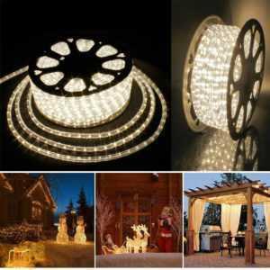 LED Lichterschlauch Lichterkette Lichtschlauch 6 bis 50M Φ13mm Lichtleiste Außen; EEK A+