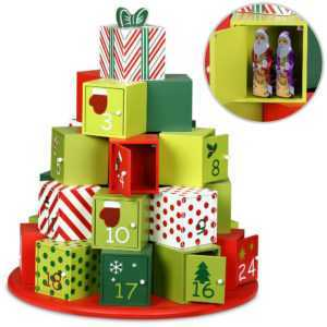 XL Adventskalender zum Befüllen X-Mas DIY Kalender Holz Weihnachtsdeko Kinder