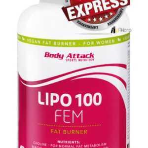 Body Attack - LIPO 100 FEM - 120 Kapseln Fatburner Diät Abnehmen EXPRESSVERSAND