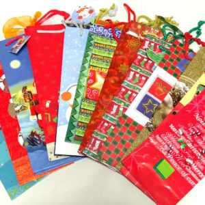 100 Stück Flaschentüte Flaschentasche Geschenktasche Weihnachten Geschenktüten