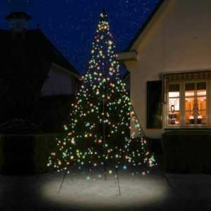 Weihnachtsbaum 300 cm 360 LED bunt beleuchtet LED-Baum outdoor Fairybell außen