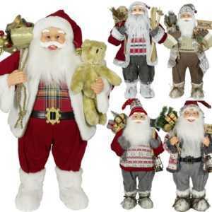 Nikolaus Figur Groß 60cm Weihnachtsmann XXL Weihnachts Deko Santa Clause Winter