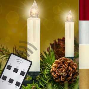 30 Set LED Lichterkette Kerzen Kabellos Weihnachtskerzen Christbaum Beleuchtung