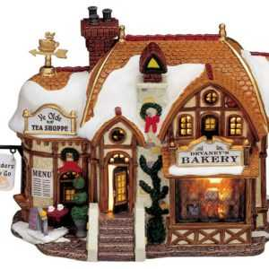 Lemax Daveney`s Bakery, Weihnachtsdorf, Lichthäuser LED, Weihnachtsdeko