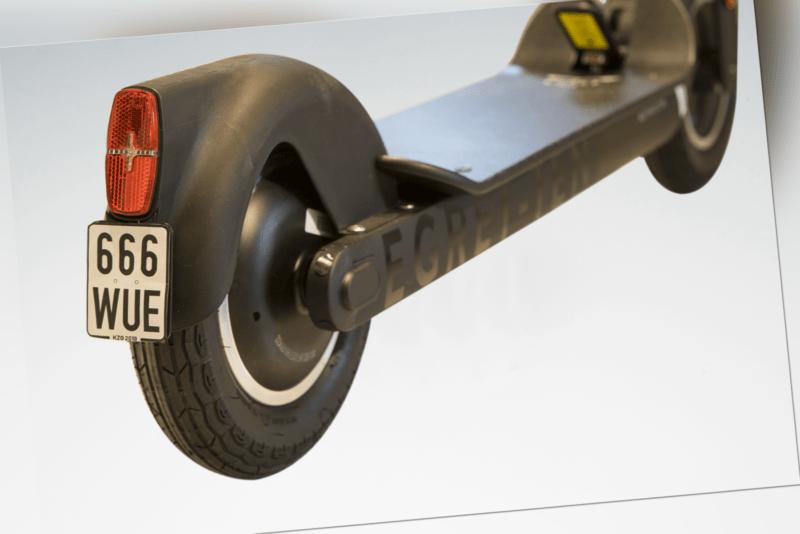 """Elektro Tretroller EGRET TEN 10"""" V4 Schwarz 48V 500W Motor ABE bis 40 Km Reichw."""