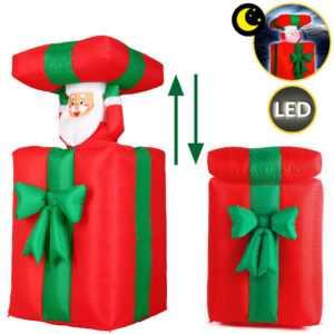 monzana Weihnachtsmann 152cm LED beleuchtet aufblasbar Weihnachten Geschenk Deko