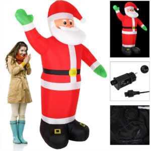 Weihnachtsmann aufblasbar XXL 250cm Deko Weihnachten Nikolaus LED beleuchtet