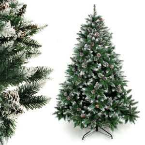 Luxus Christbaum künstlicher Weihnachtsbaum 180cm Dekobaum Tannenbaum m. Schnee