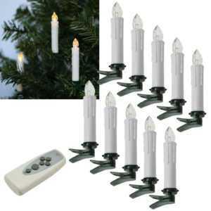 Funk LED Christbaum-Kerzen mit Fernbedienung für Innen & Außen kabellos IP44; EEK A+