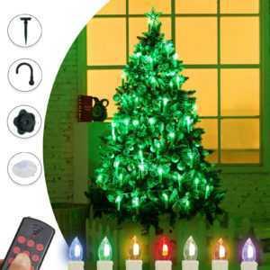40er Kabellos LED Weihnachtskerzen Lichterkette Weihnachtsbeleuchtung Kerzen Set; EEK A+