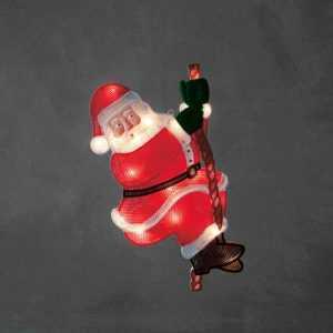 Konstsmide 2856-010 LED Fenster Bild Deko beleuchtet kletternder Weihnachtsmann