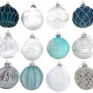 12 Luxus Weihnachtskugeln Christbaumkugeln Weihnachten Glas Weihnachtsdeko A6