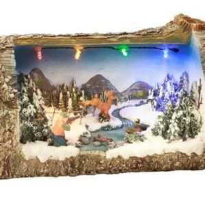 LED Deko Baumstamm beleuchtet Winter Weihnachten Weihnachtsdekoration Winterdeko